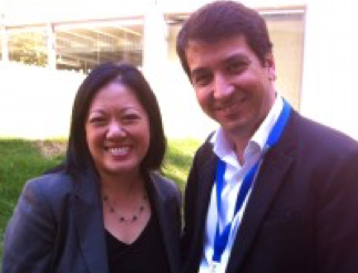 Carlos Victor in Madrid with Charlene Li